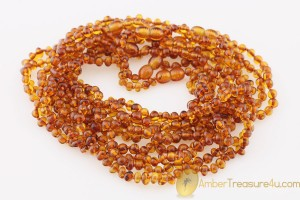 Lot of 20 Baby Teething Baroque Necklaces BALTIC AMBER btw12