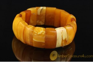 ANTIQUE Unique Color BALTIC AMBER Huge Bangle Bracelet 3