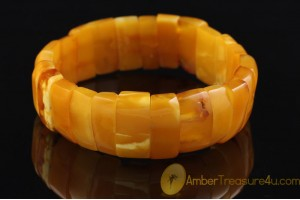 ANTIQUE Unique Color BALTIC AMBER Huge Bangle Bracelet 4