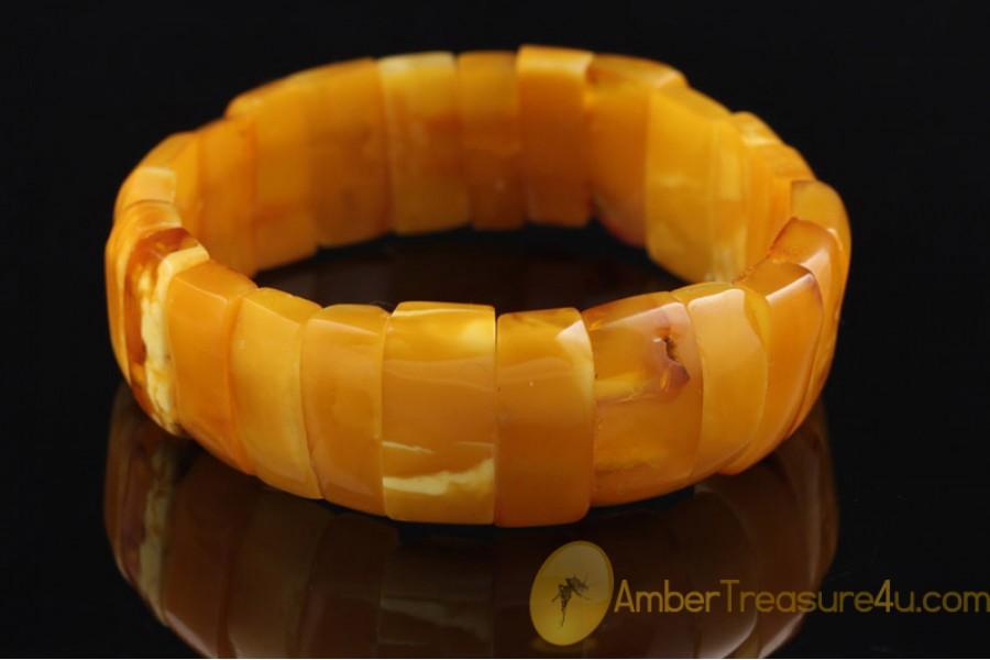 ANTIQUE Unique Color BALTIC AMBER Huge Bangle Bracelet 4