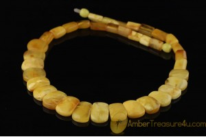 Excellent BUTTER COLOR Genuine BALTIC AMBER Choker