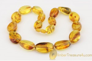 Large Beads with Inclusions Genuine BALTIC AMBER Necklace