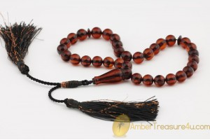 Chery Color Islamic 33 Prayer Beads 9mm Genuine BALTIC AMBER