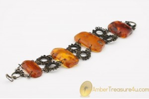 EXCLUSIVE Artisan Vintage  Large BALTIC AMBER Bracelet