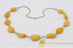 VINTAGE Butterscotch Genuine BALTIC AMBER Necklace