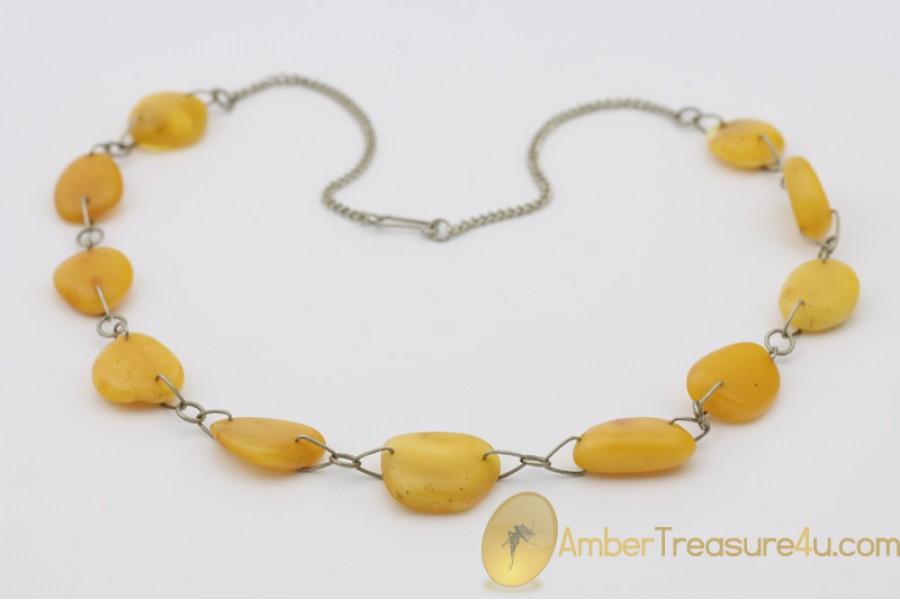VINTAGE Butterscotch Genuine BALTIC AMBER Necklace