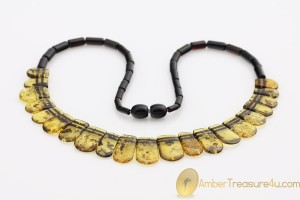 Excellent Greenish Color  Genuine BALTIC AMBER Choker
