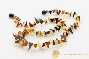 Spike Shape Pieces Genuine BALTIC AMBER Necklace