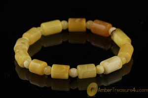 Butterscotch Antique Style Genuine BALTIC AMBER Stretch Bracelet b34