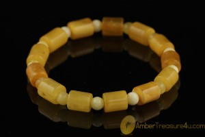 Butterscotch Antique Style Genuine BALTIC AMBER Stretch Bracelet b35