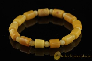 Butterscotch Antique Style Genuine BALTIC AMBER Stretch Bracelet b36