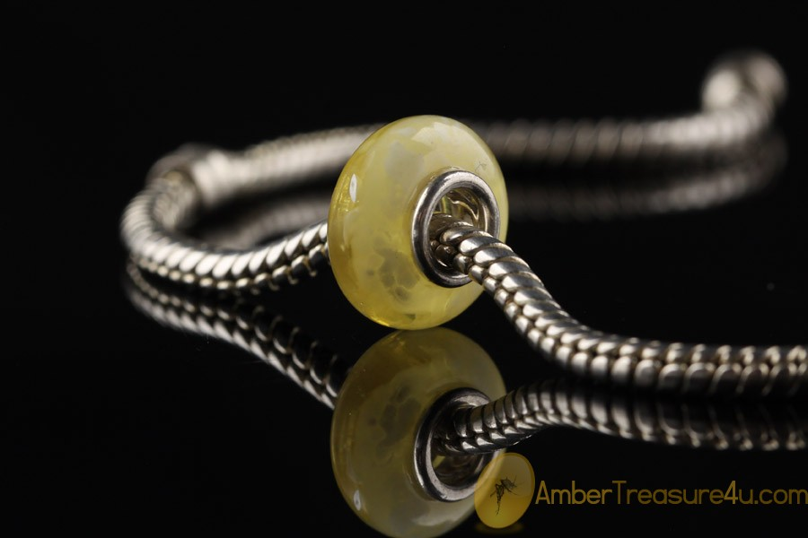 Genuine BALTIC AMBER Bead fits to PANDORA & TROLL Bracelet