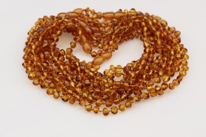 Lot of 10 Baby Teething Baroque BALTIC AMBER Necklaces