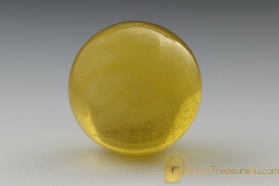 White Butter Round Shape Ball Bead mm Genuine BaltIc Amber 5.2g bd-2
