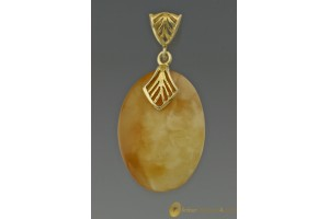 Butter White Genuine BALTIC AMBER Pendant 3.3g
