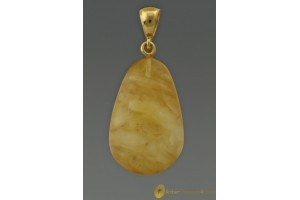 Butter White Genuine BALTIC AMBER Pendant 2.4g