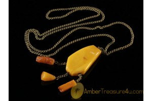 ANTIQUE Butterscotch Genuine BALTIC AMBER Pendant anp3