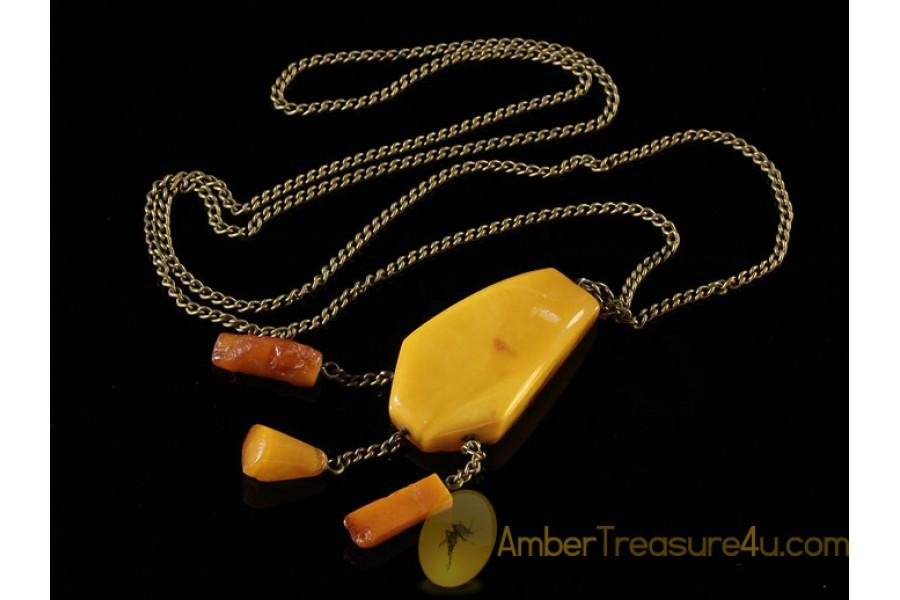 ANTIQUE Butterscotch Genuine BALTIC AMBER Pendant anp3