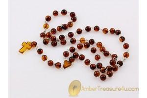 BALTIC AMBER Catholic Rosary of Round Beads cr2