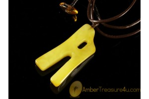 Butterscoth A Amulet BALTIC AMBER Pendant - Leather 18