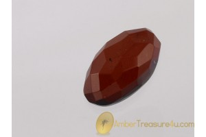 Faceted Cherry Color BALTIC AMBER Cabochon 4