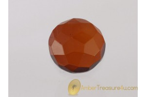 Faceted Cognac Color BALTIC AMBER Cabochon 5