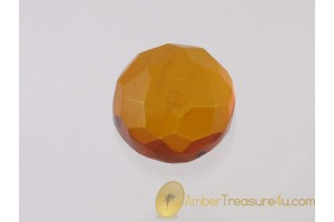Faceted Cognac Color BALTIC AMBER Cabochon 7