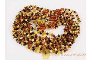 Lot of 10 Baby Teething Baroque Necklaces BALTIC AMBER 14