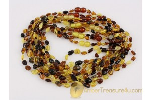 Lot of 10 Baby Teething Necklaces BALTIC AMBER 13.5