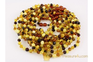 Lot of 10 Baby Teething Baroque Necklaces BALTIC AMBER 13