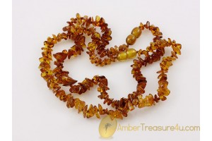 Lot of 2 Baby Teething Necklaces BALTIC AMBER 13.5