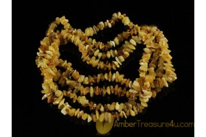 Lot of 4 Baby Teething Necklaces BALTIC AMBER 13.5