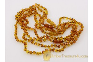 Lot of 4 Baby Teething Baroque Necklaces BALTIC AMBER 14