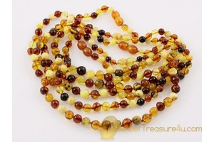 Lot of 5 Baby Teething Baroque Necklaces BALTIC AMBER 13