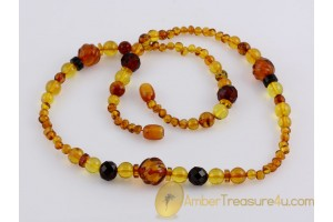 Mixed beads Genuine BALTIC AMBER Necklace 21